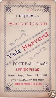 Harvard Yale 1891-2